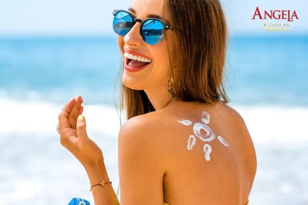 chống nắng giúp giảm nếp nhăn trán